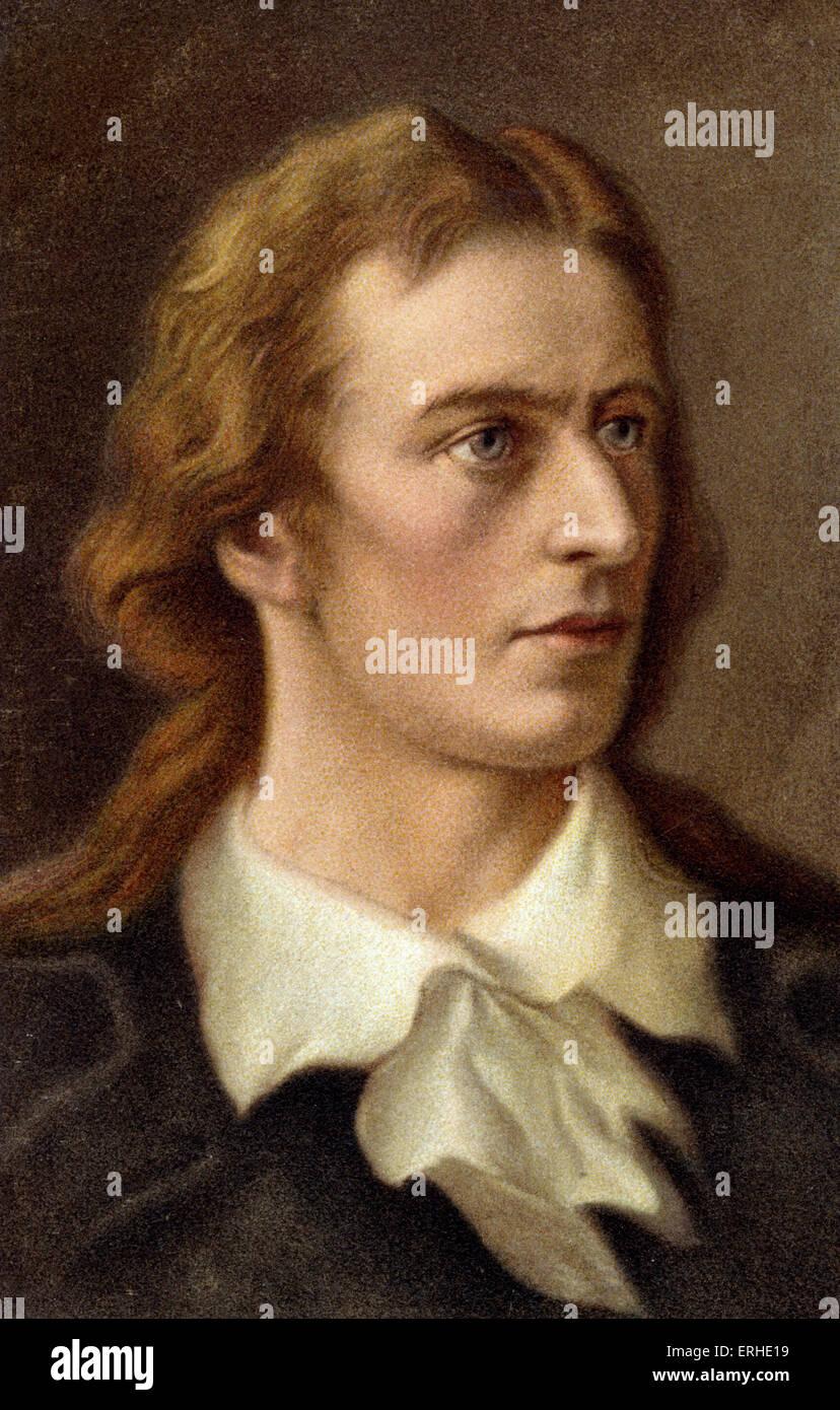Friedrich von Schiller - portrait German poet and dramatist 1759-1805 - Stock Image