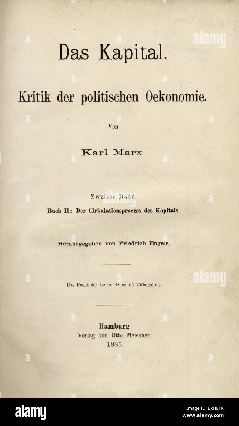 Karl Marx S Das Kapital Volume Ii Das Kapital Kritik Der Stock