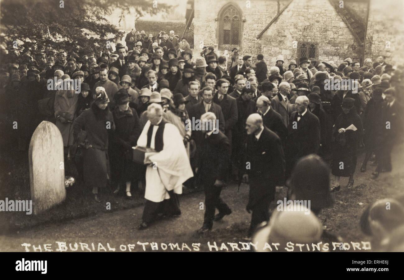 Thomas Hardy, burial at Stinsford.  English poet and novelist, 1840-1928. - Stock Image
