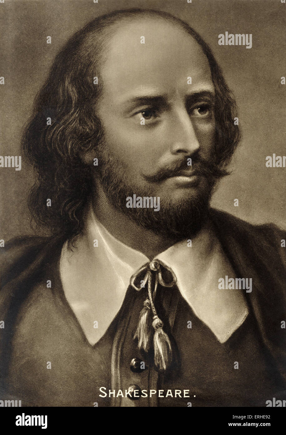 William Shakespeare, portrait. English playwright 1564-1616 Stock Photo