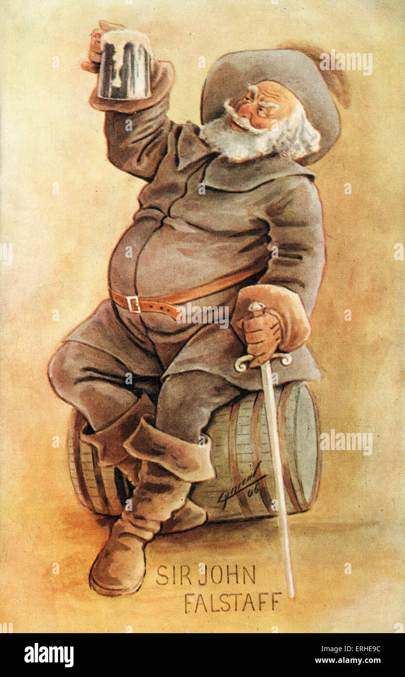 William Shakespeare 's comic character Sir John Falstaff -    English playwright, 1564-1616 - Stock Image