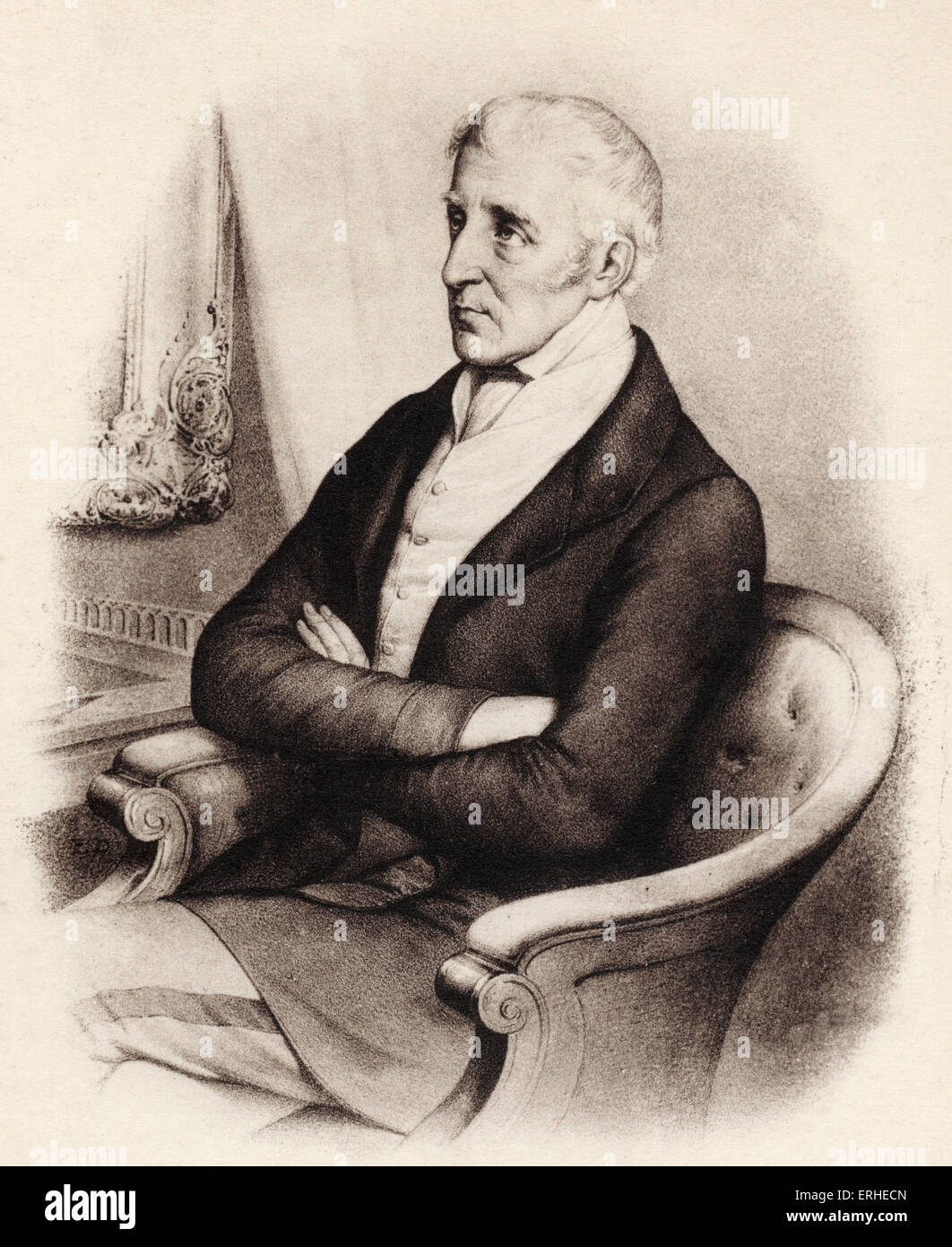 1st Duke of Wellington (Arthur Wellesley) known as the Iron Duke - Irish-born soldier and statesman. 1769-1852 - Stock Image