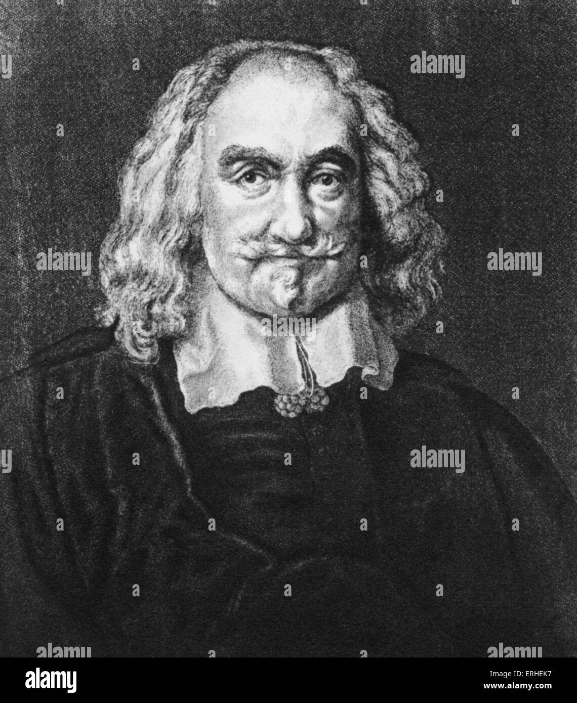 Thomas Hobbes - English moral and political philospher 1588 -1679 - Stock Image