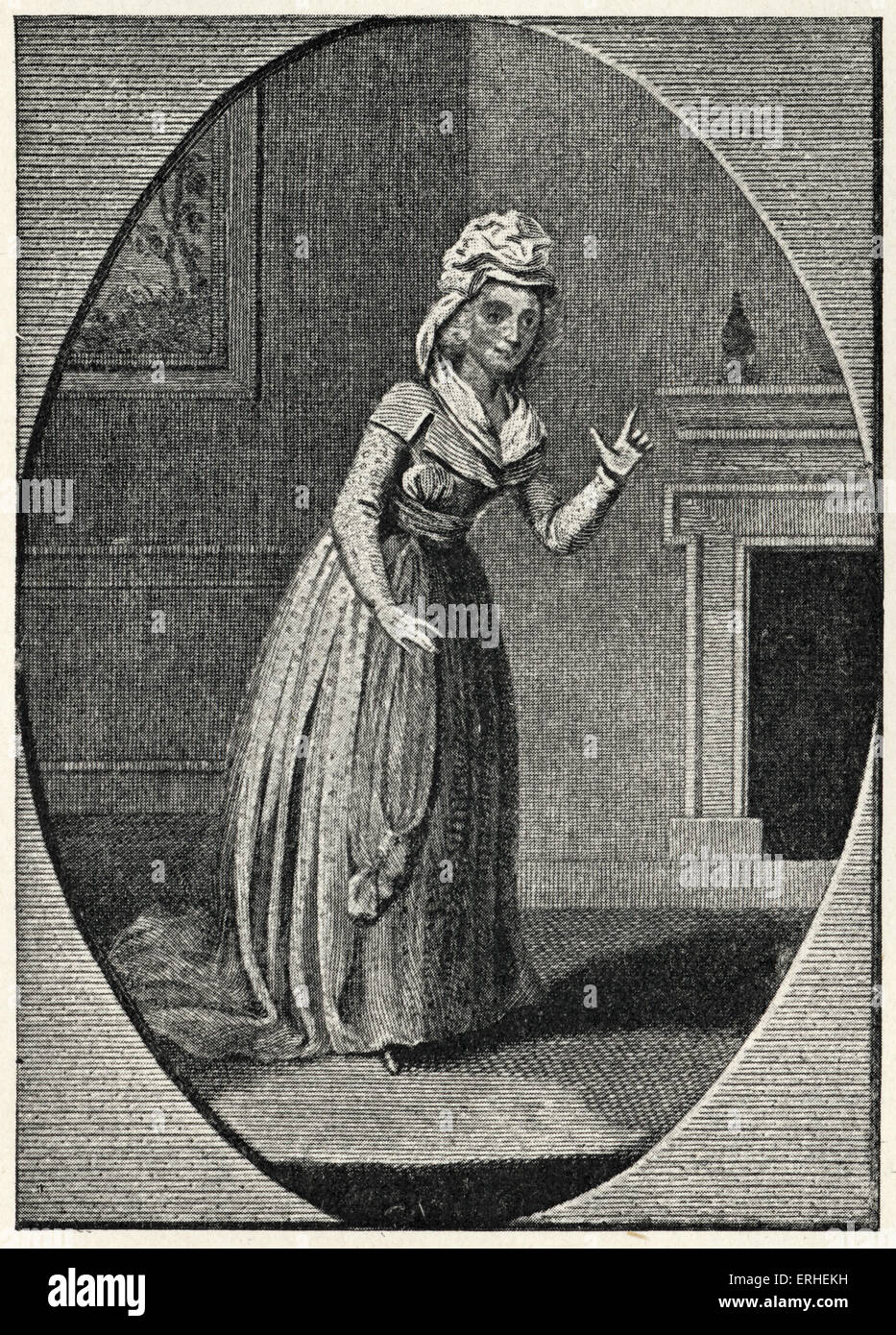 John Gay - illustration - Mrs Crouch as Polly - 'The Beggar's Opera' 1685-1732 - from old print - Stock Image