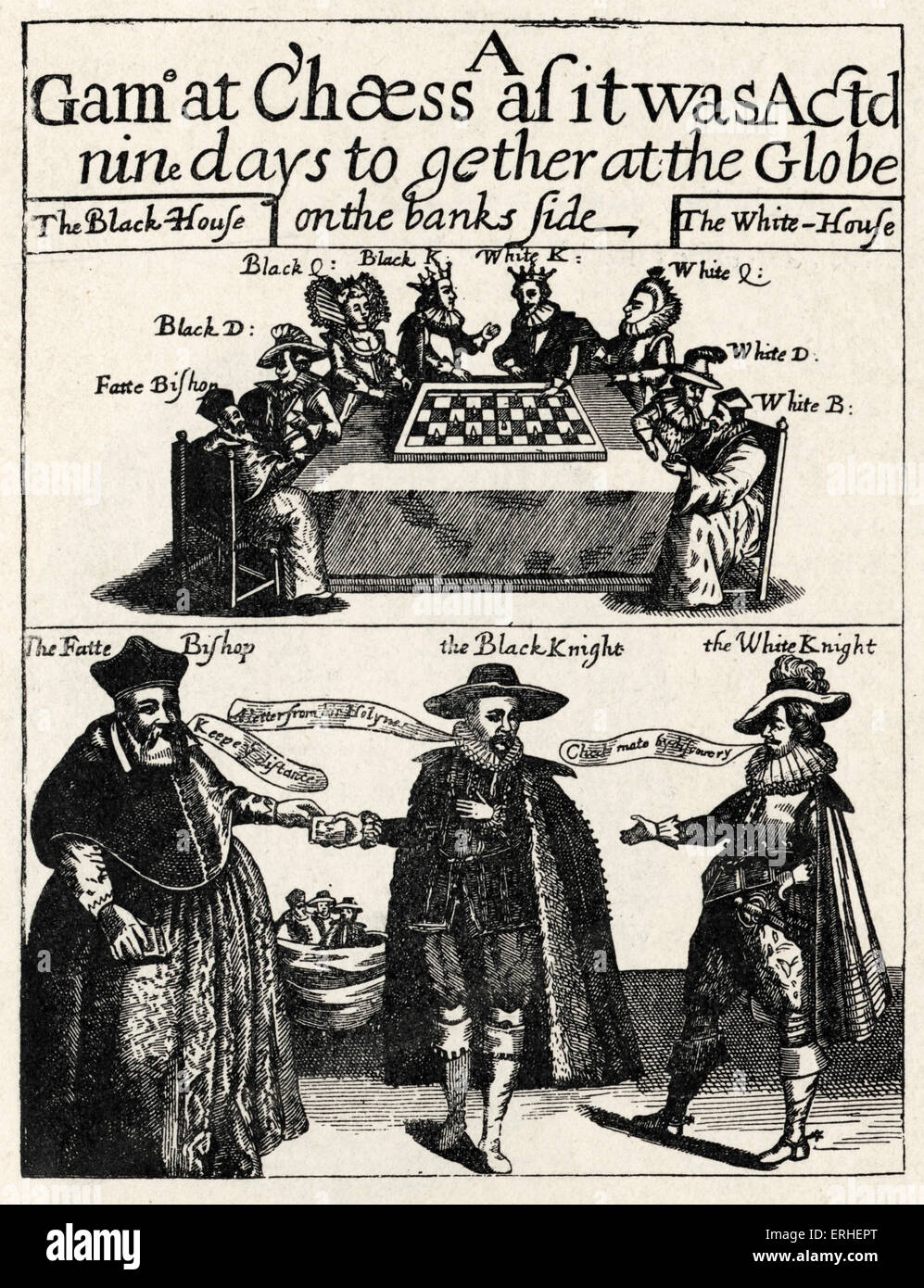 Thomas Middleton - title page for 'Game at Chess' 1624. English playwright,  poet, c 1570-1627 - Jacobean drama