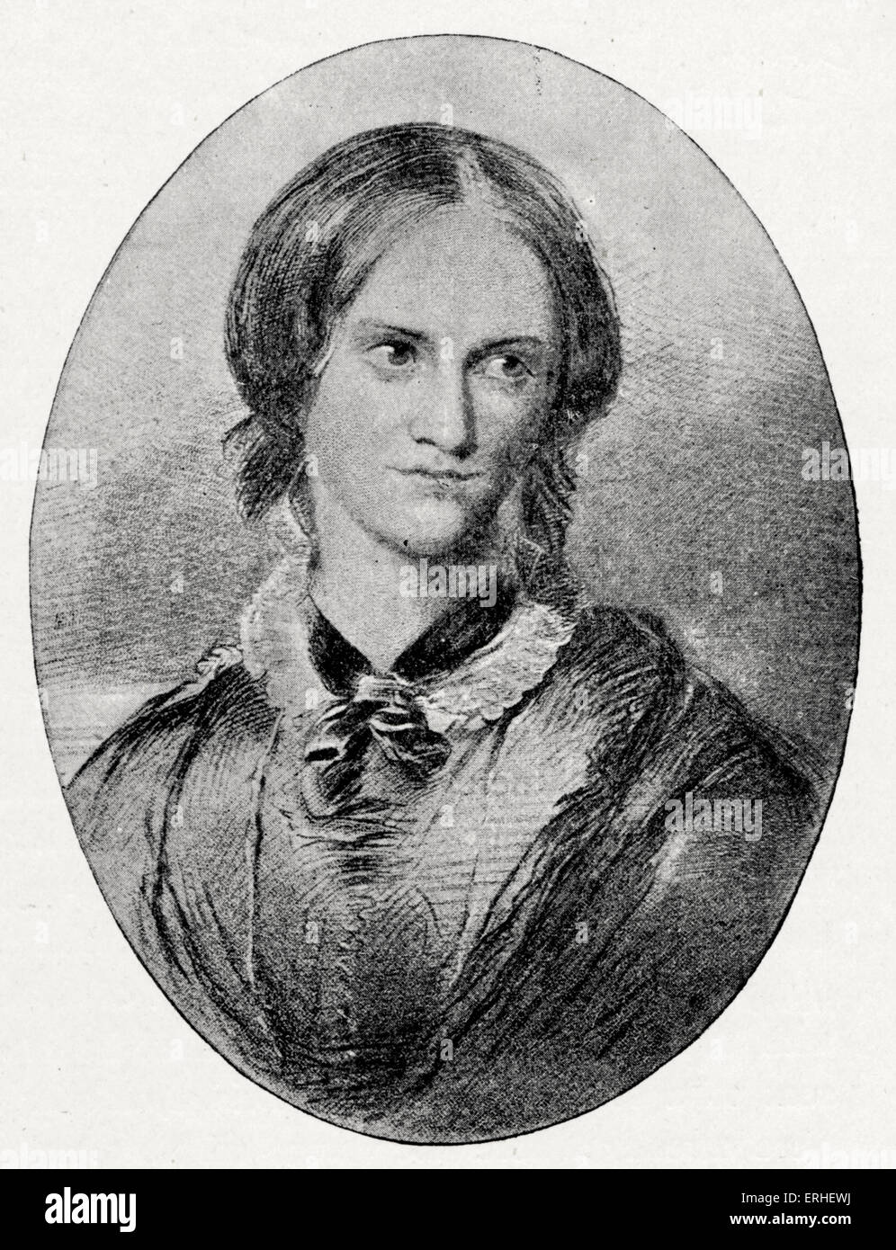 Charlotte Bronte - English Novelist. 1816-1855.  After a drawing by G. Richmond Stock Photo