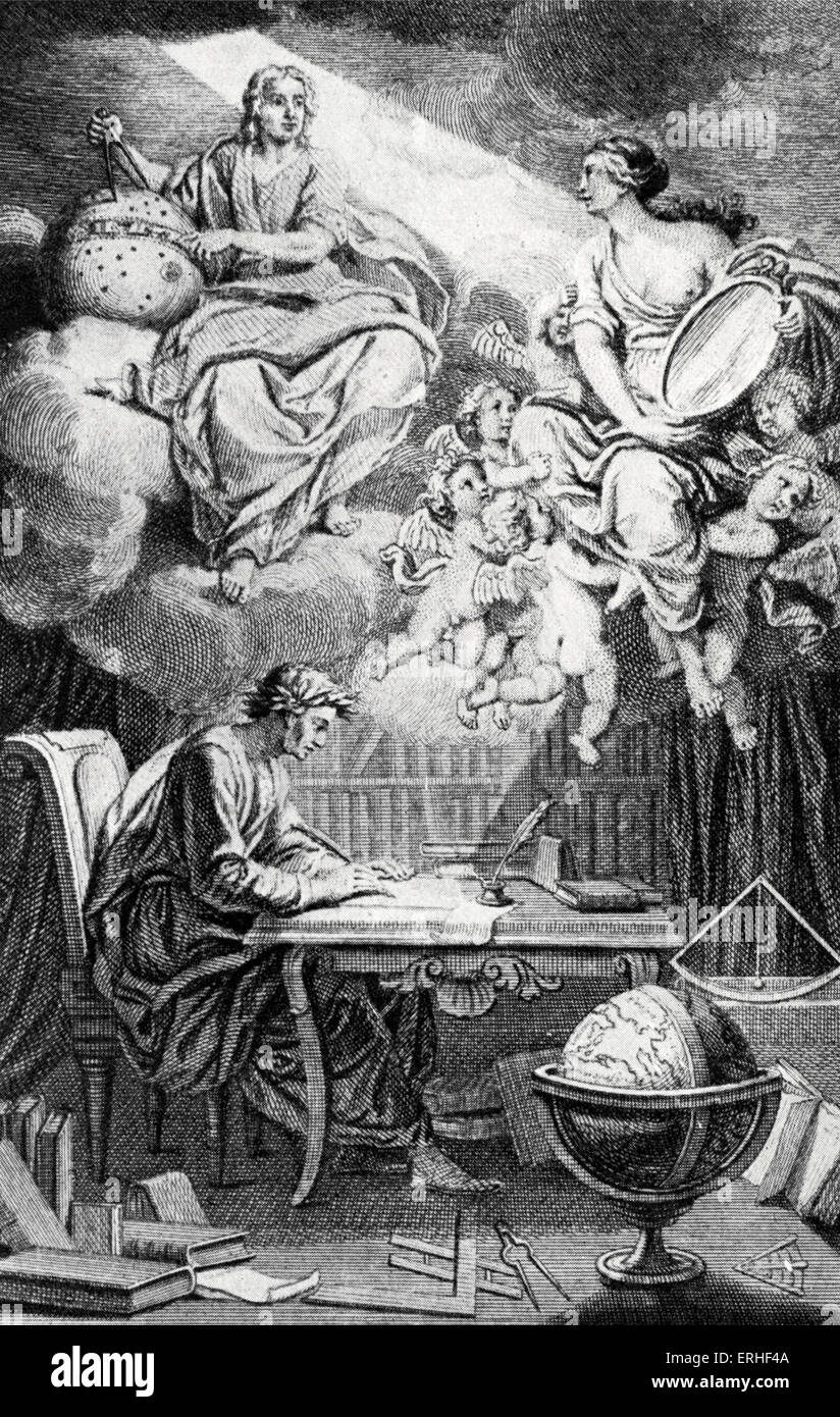 Frontispiece to Voltaire's edition of Eléments de la Philosophie de Newton, 1738. Popularisation of scientific - Stock Image
