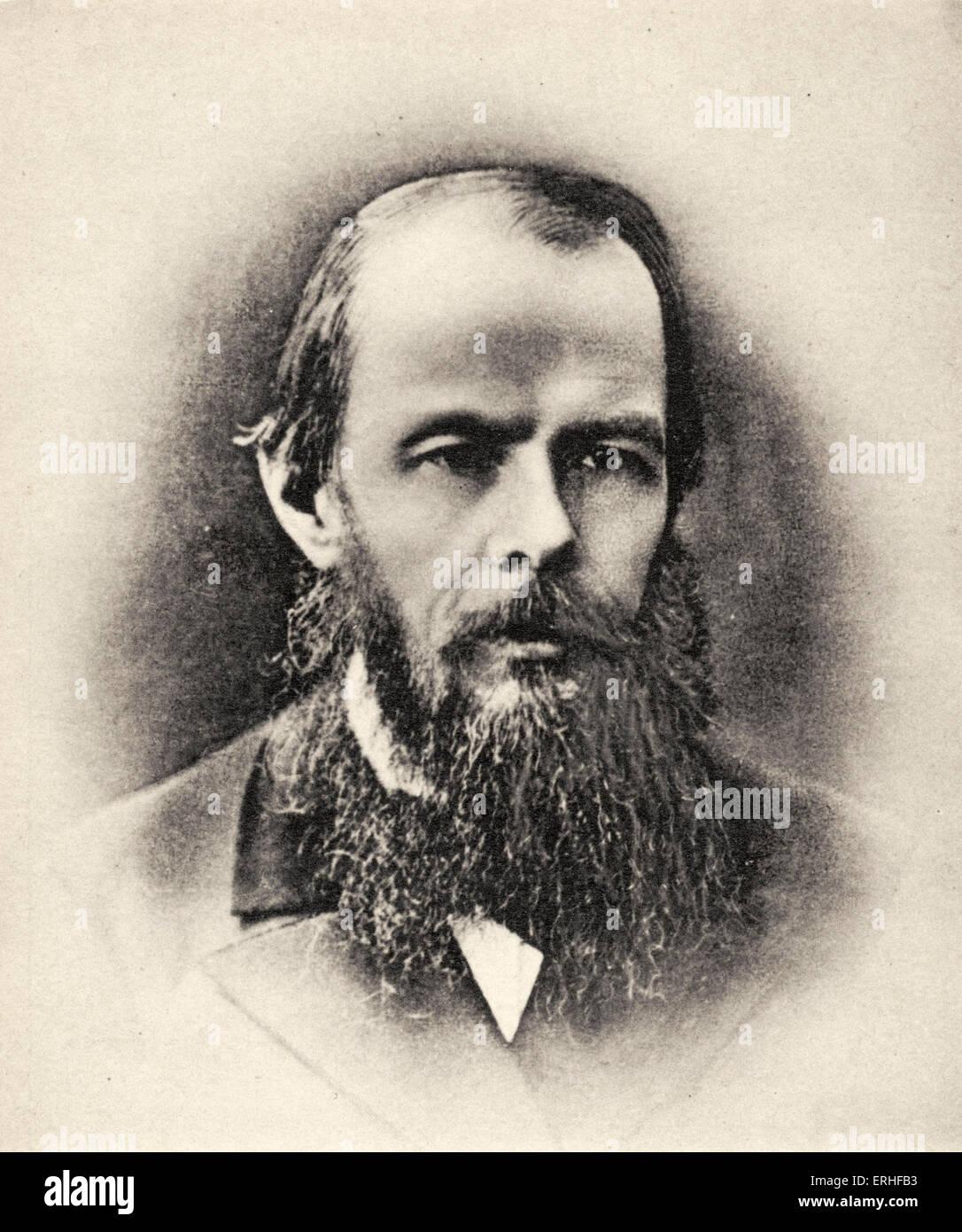 Fyodor Dostoevsky / Dostoyevsky, portrait.  Russian novelist, journalist, short-story writer. 1821 - 1881 - Stock Image
