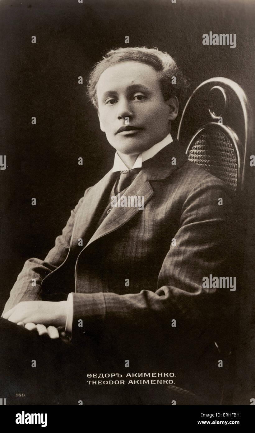 Theodore Akimenko - portrait - Russian-Ukrainian composer, 1876 - 1945 - Stock Image