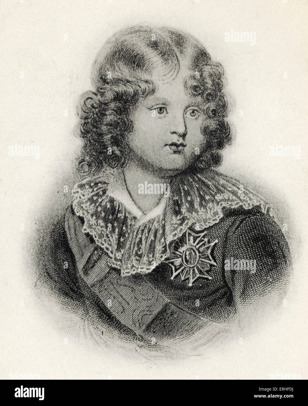 Napoleon II (Francois Charles Joseph) - portrait as a child.  Declared King of Rome and Duke of Parma but never Stock Photo