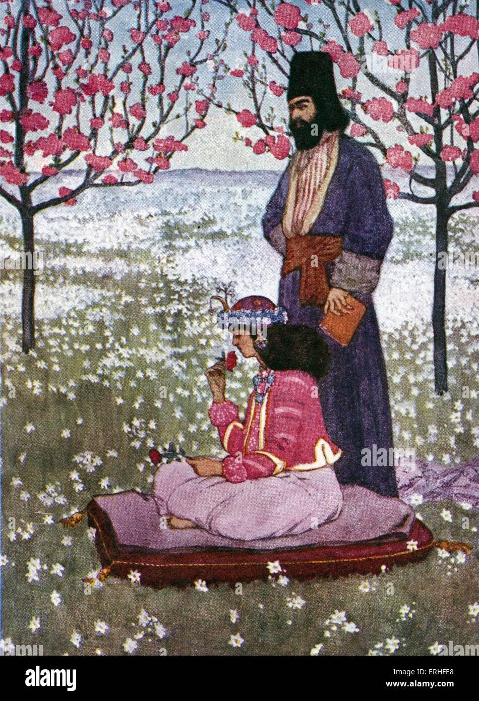 Rubaiyat of Omar Khayyam by Edward FitzGerald ( translation of a selection of poems, originally written in Persian - Stock Image