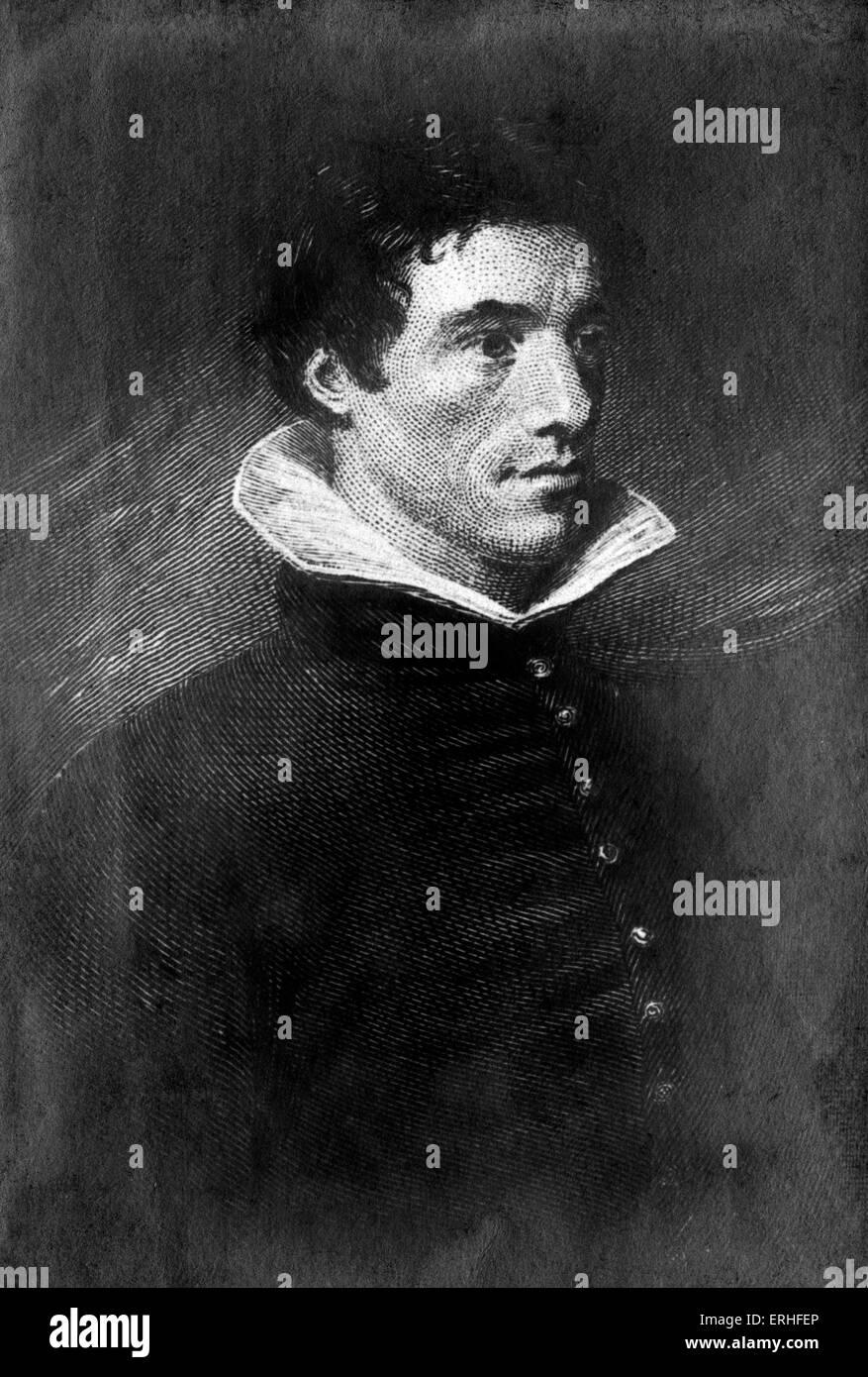 Charles Lamb - portrait - English essayist 1775 - 27 July 1834 - Stock Image