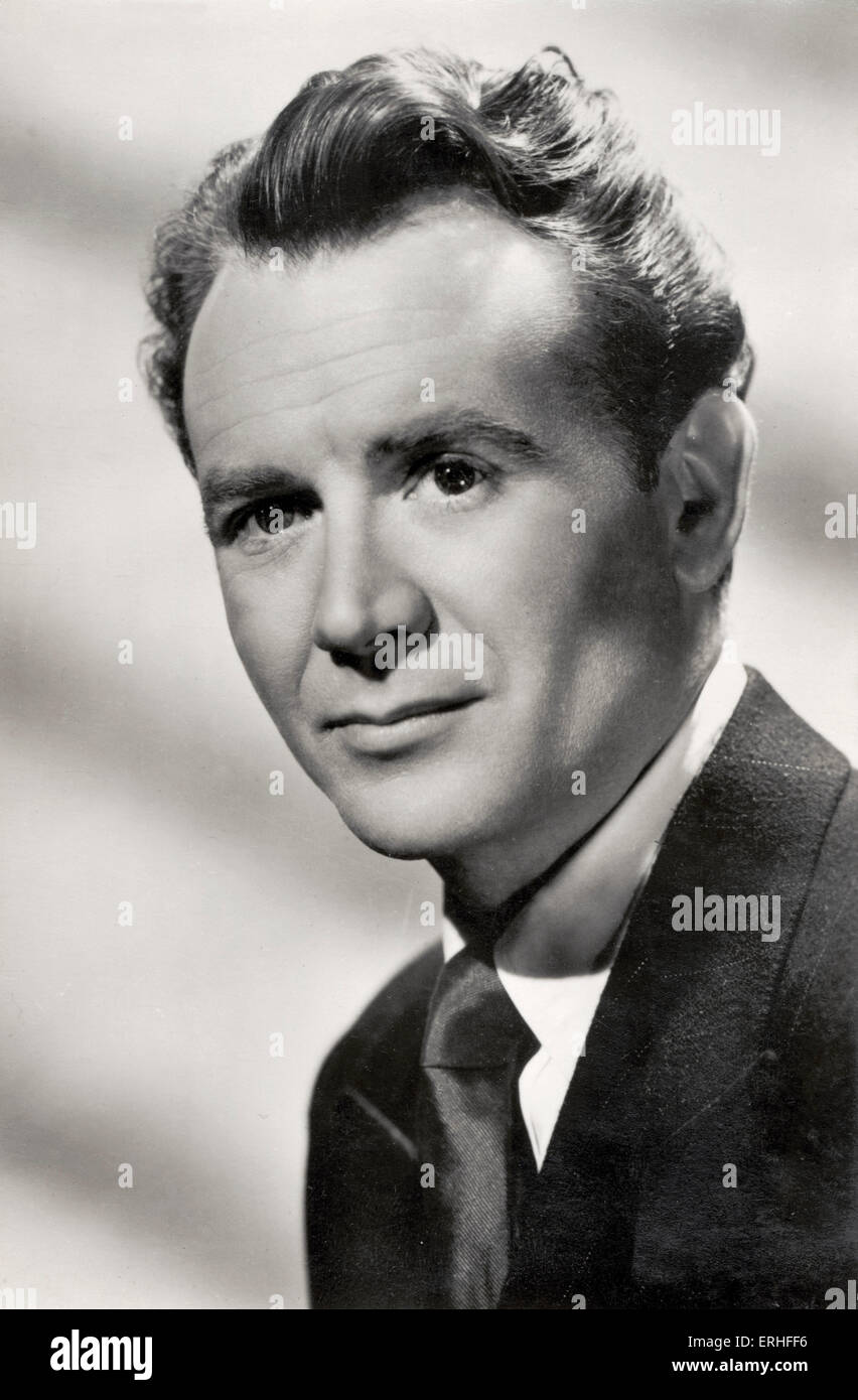 John Mills - portrait.  British actor - b. 22 February 1908 - Stock Image