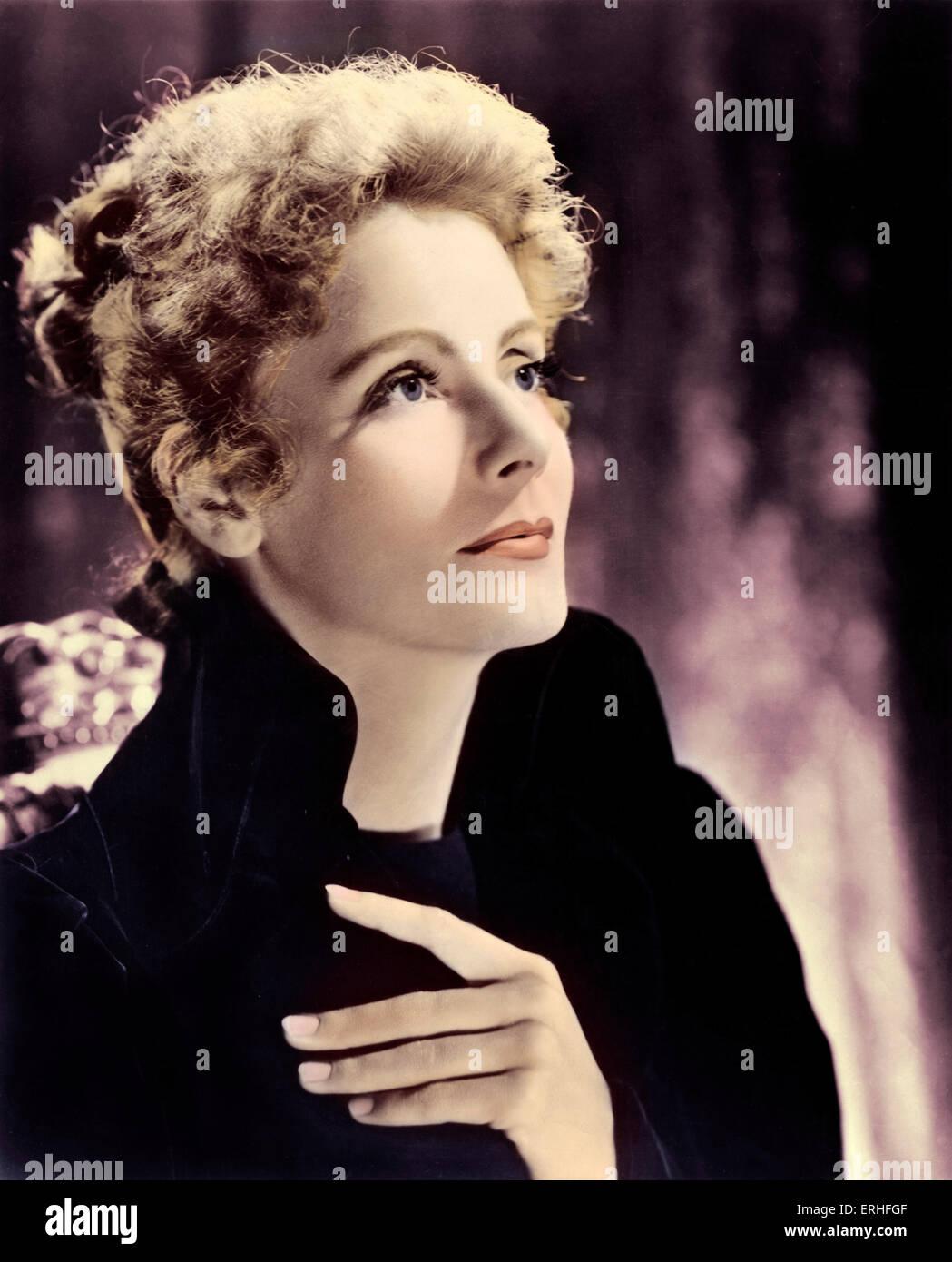 Greta Garbo- portrait as title role in Marie Walewska, 1937 - Swedish film star - 18 September 1905 - 15 April 1990 - Stock Image