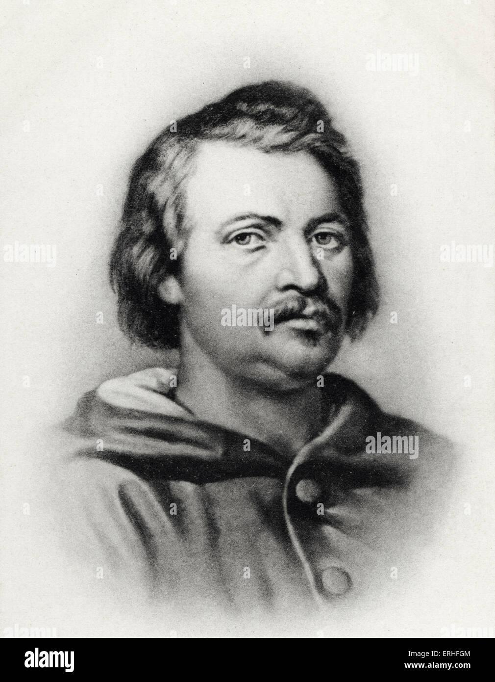 Honoré De Balzac Portrait French Novelist And Poet 20 May
