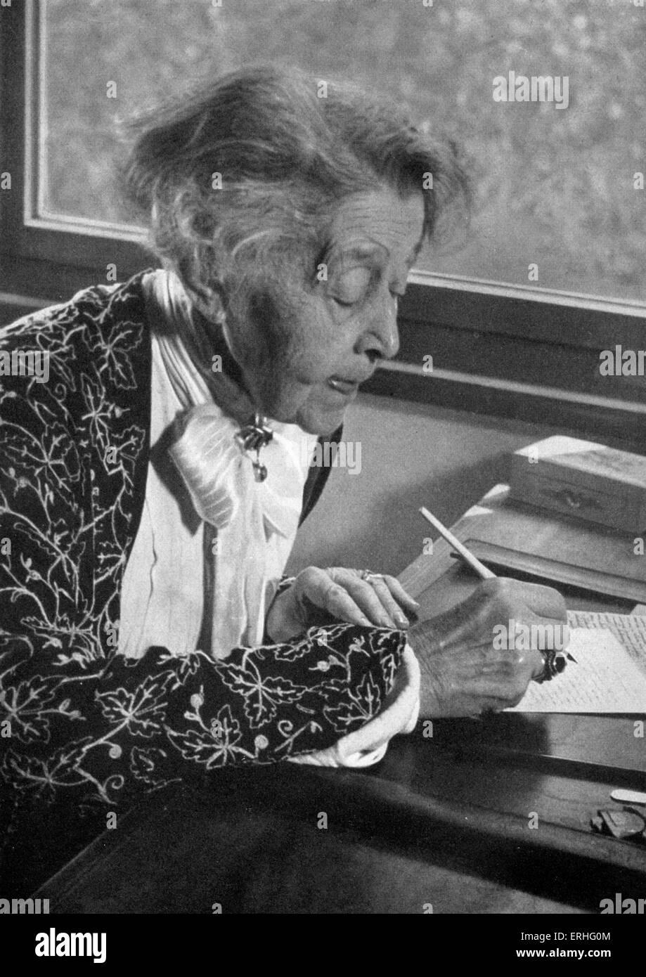 Ricarda Huch, portrait photograph taken 1947.  German novelist, poet, cultural historian. August 18 1864 - November - Stock Image