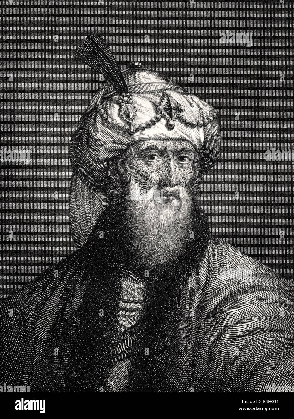 Josephus , also known as Flavius Josephus (c. 37–c. 100 AD), a 1st century Jewish historian of priestly and royal - Stock Image