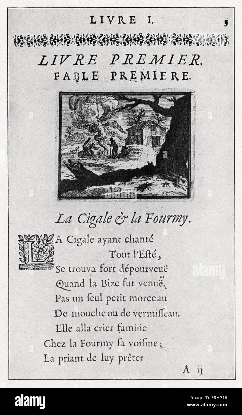 Fables De La Fontaine Page From 1668 Edition Volume 1 Of 6
