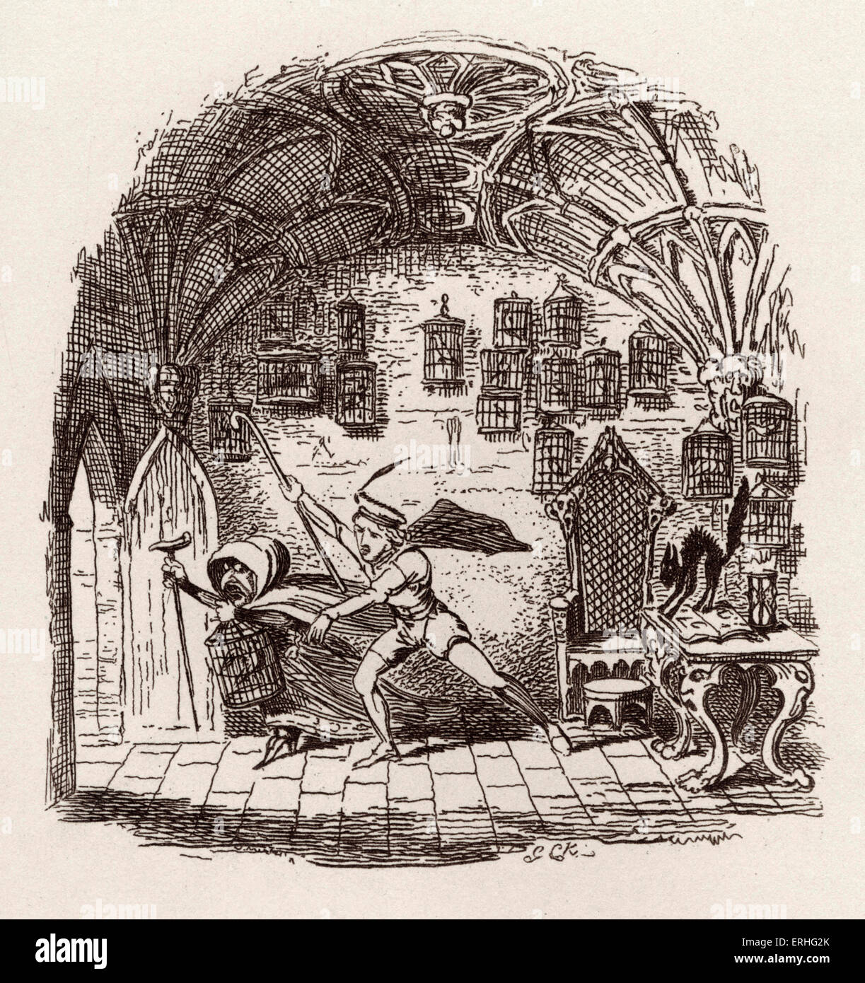 Brothers Grimm Children's and Household Tales - published in 1812-15. Later known as Grimm's fairy tales. - Stock Image