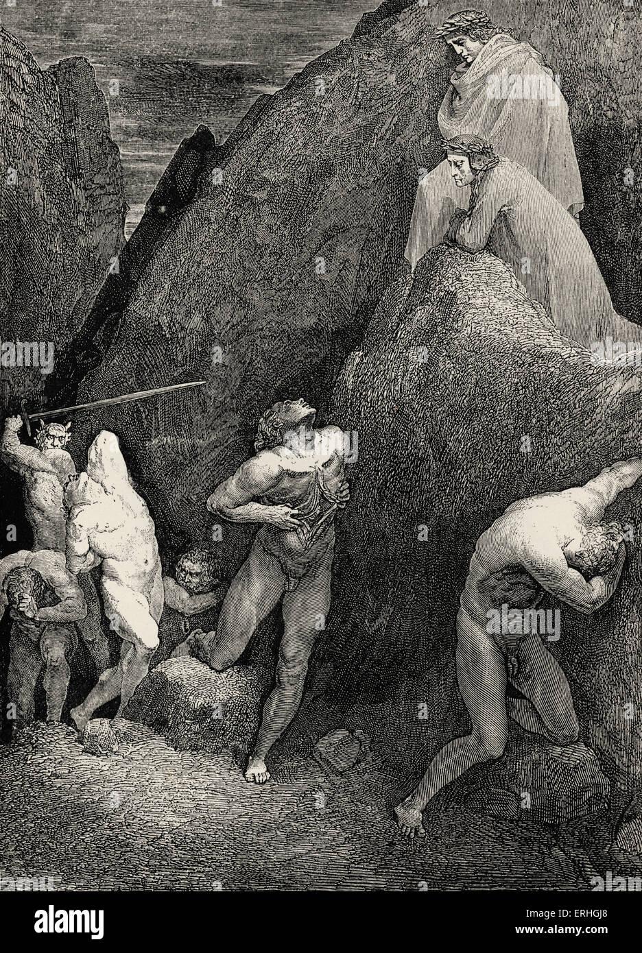 Dante Alighieri, La Divina Commedia, L'Inferno (The Divine Comedy, Hell) - Canto XXVIII (28): illustration by Gustave Stock Photo