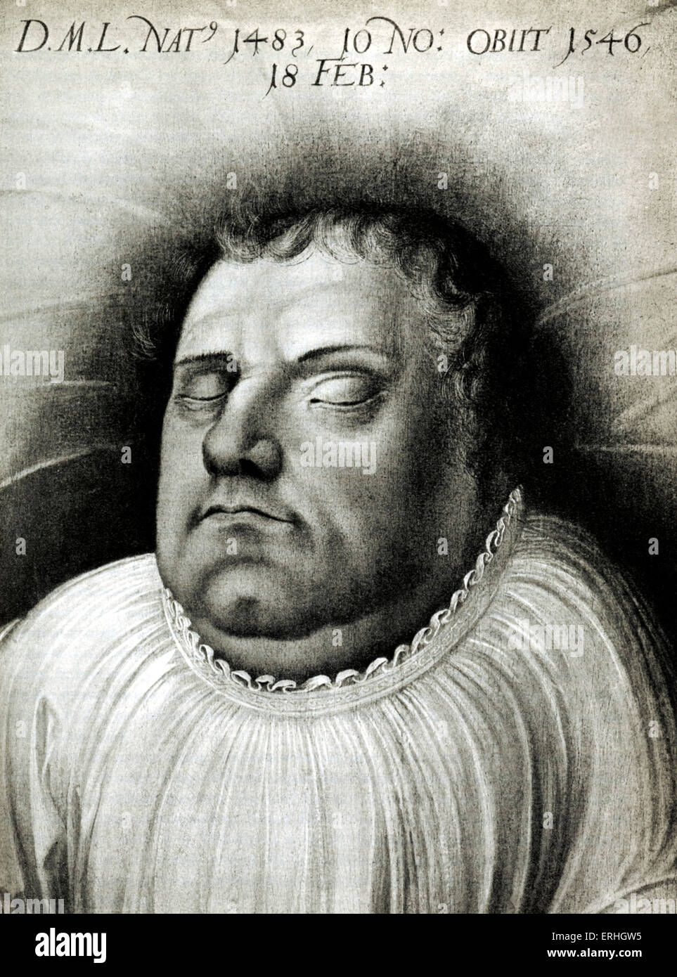 Martin Luther by Lucas Cranach. Church reformer. 10 November 1483 - 18 February 1546 - Stock Image
