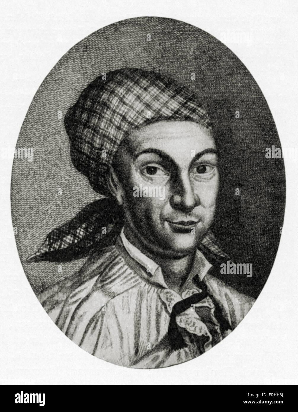 Johann Georg Hamann - portrait of the German philosopher, 27 August 1730 - 21 June 1788. - Stock Image