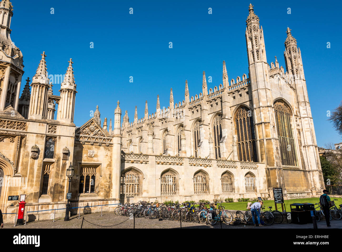 King's College of Cambridge University in the UK - Stock Image