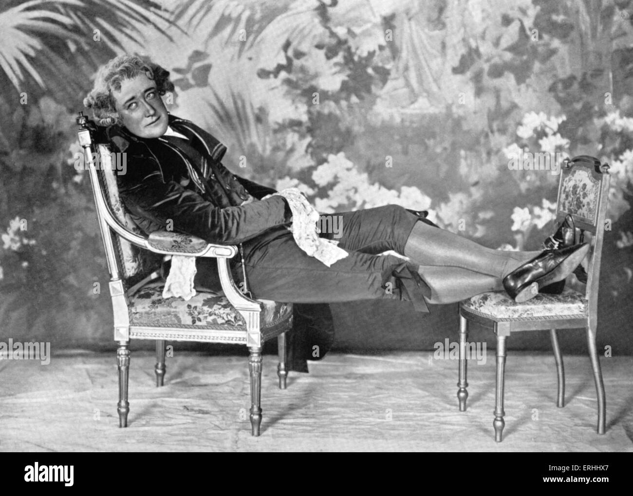 Baroness Emmuska Orczy and Montagu Barstow 's play 'The Scarlet Pimpernel' - Fred Terry as Sir Percy - Stock Image