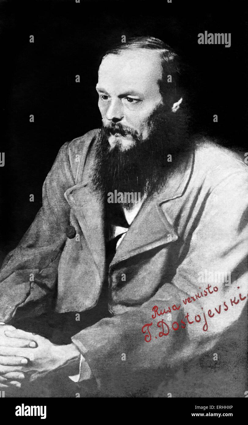 Fyodor Dostoevsky - portrait of Russian writer 11 November 1821- 9 February 1881, Dostoyevsky - Stock Image
