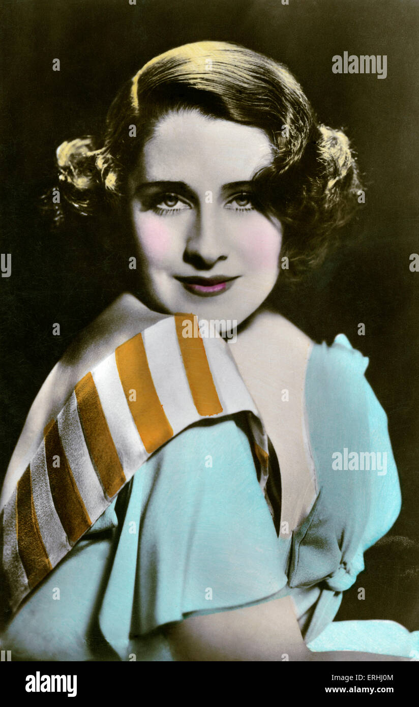 Norma Shearer  - portrait of the Canadian-born American actress. Silent screen film star. 10 August 1902- 12 June - Stock Image