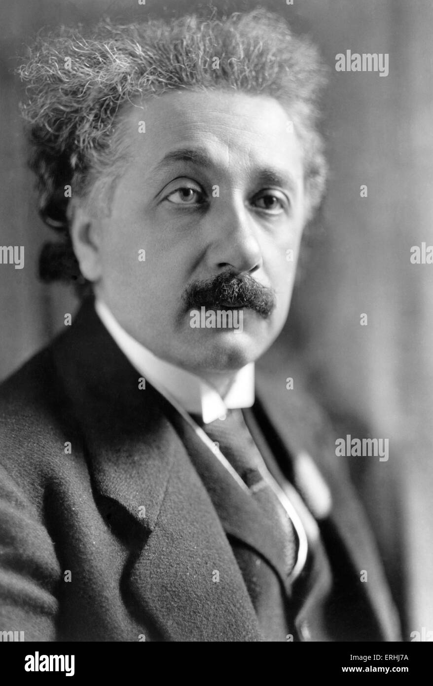 Albert Einstein - portrait of  the German theoretical physicist. Noble prize winner, 1921. 14 March 1879 – 18 April - Stock Image