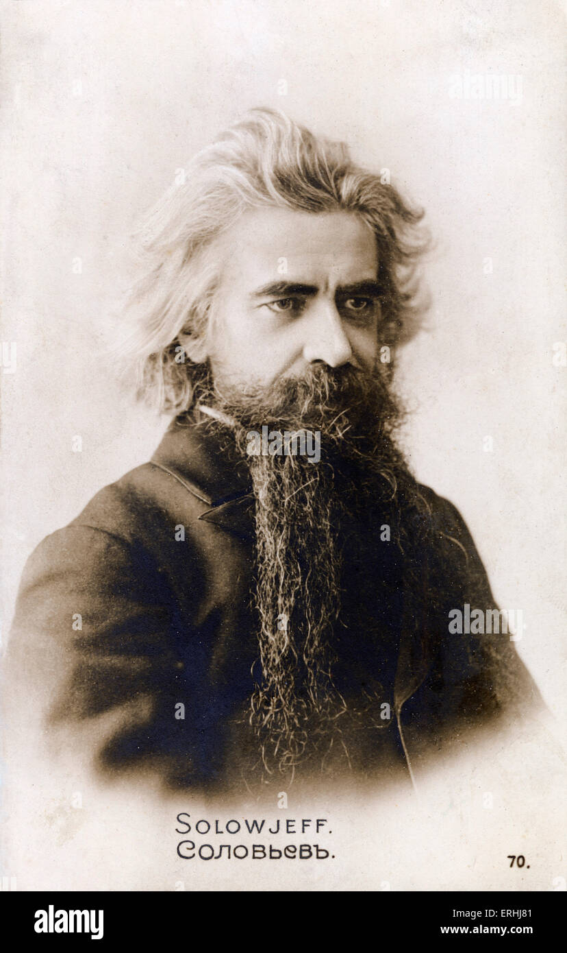 Vladimir Sergeevich Soloviev - Russian poet and philosopher. Vladimir Sergeyevich Solovyov. 16 January 1853 - 1900. - Stock Image