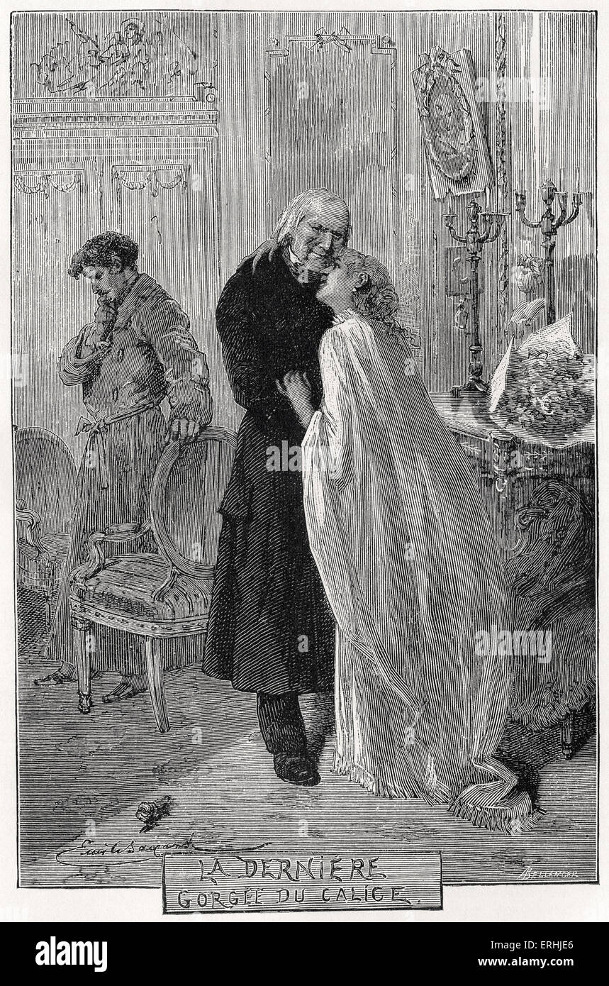 Victor Hugo - Illustration for the French poet and novelist's novel, 'Les Misérables'.  'The - Stock Image