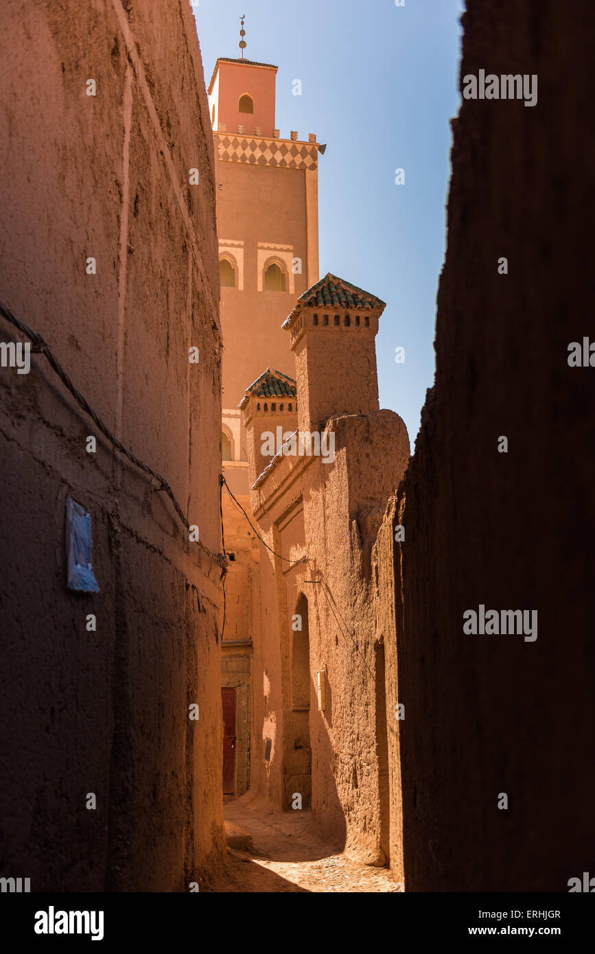 Street of Tamegroute, in the south of Morocco - Stock Image
