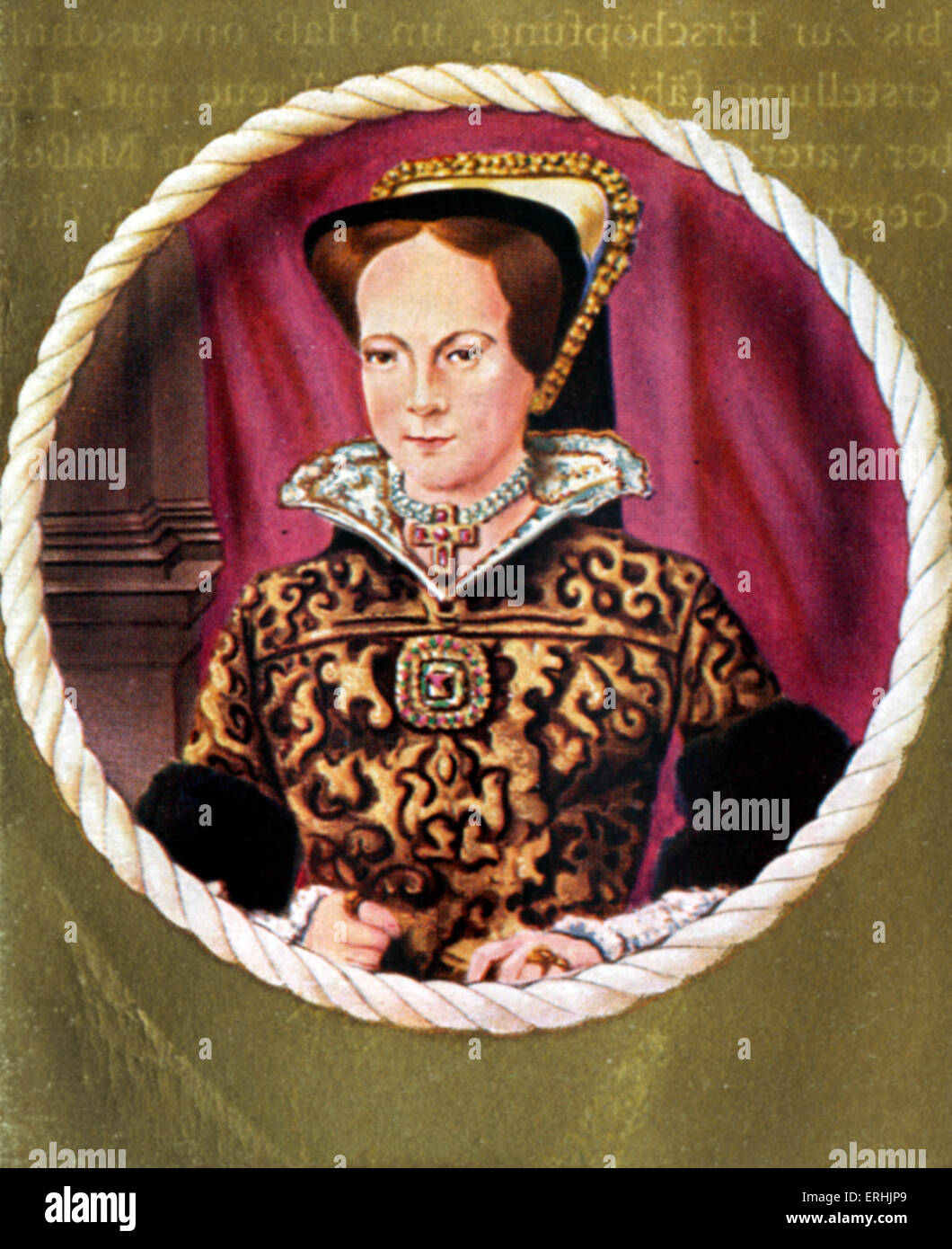 Mary I. Portrait of the Queen of England. Also known as Mary Tudor. 18 February 1516 – 17 November 1558 - Stock Image