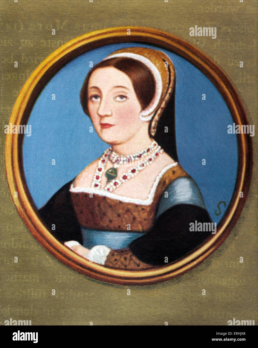 Catherine Howard. Portrait of the fifth wife of Henry VIII of England. c. 1520 and 1525 -  February 13 1542 - Stock Image