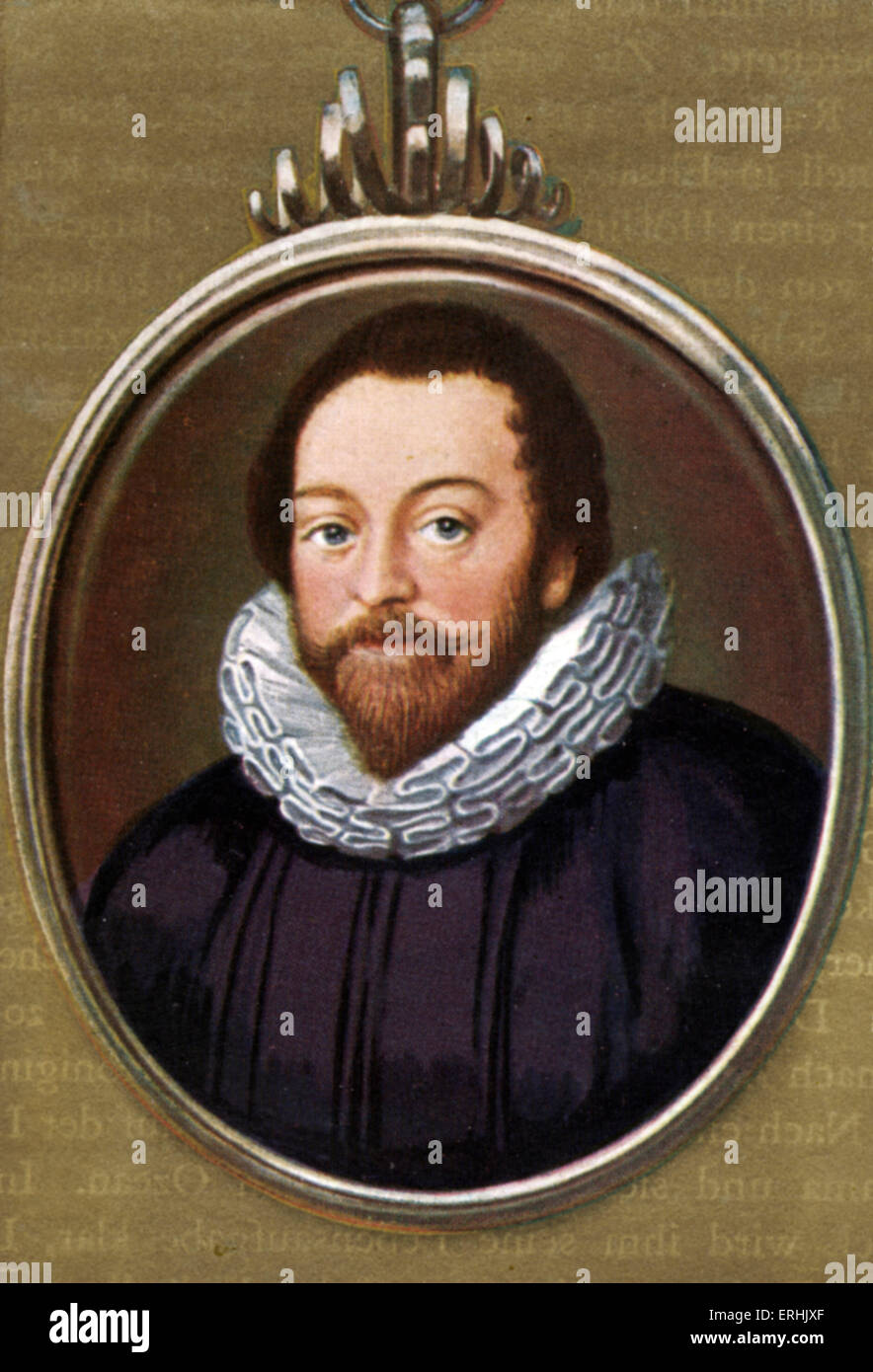 Sir Francis Drake. Portrait of the English navigator, sailor and politician. c. 1540 – January 28, 1596. - Stock Image