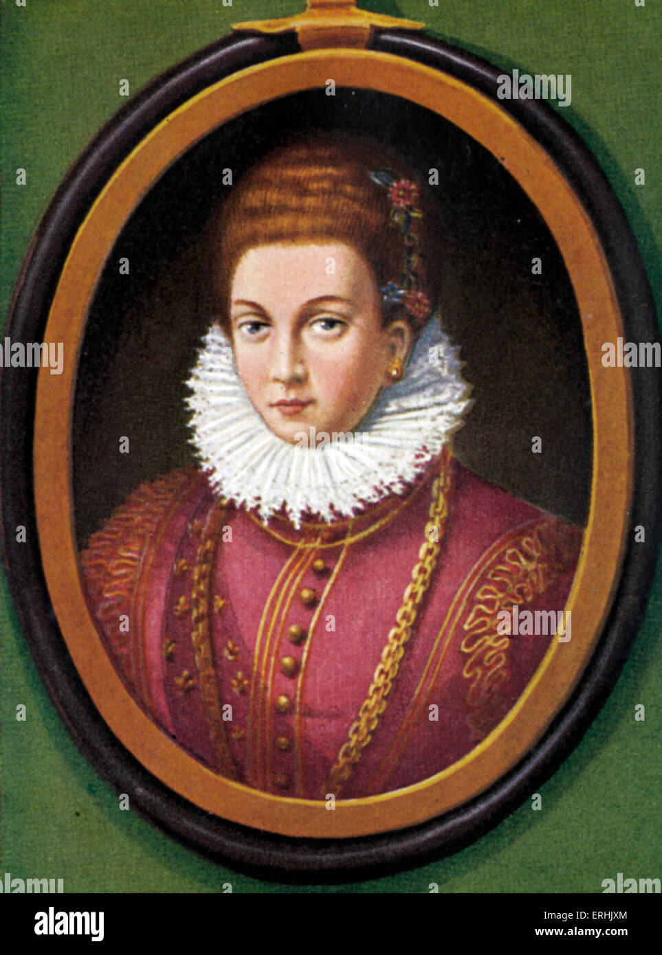 Marie de' Medici. Portrait of queen of France. The second wife of King Henry IV of France. Later she was the - Stock Image
