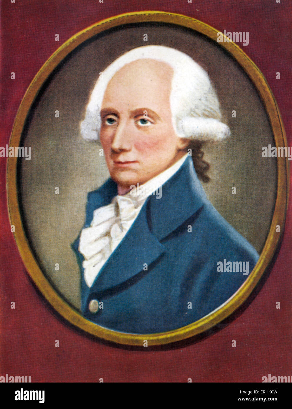 Warren Hastings. Portrait of  the first governor-general of British India. 6 December 1732 - 22 August  1818 - Stock Image