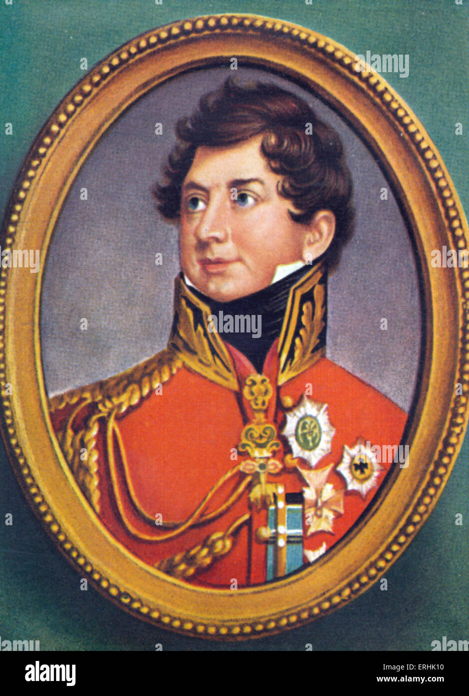 George IV (George Augustus Frederick). Portrait of the King of the United Kingdom of Great Britain and Ireland. - Stock Image