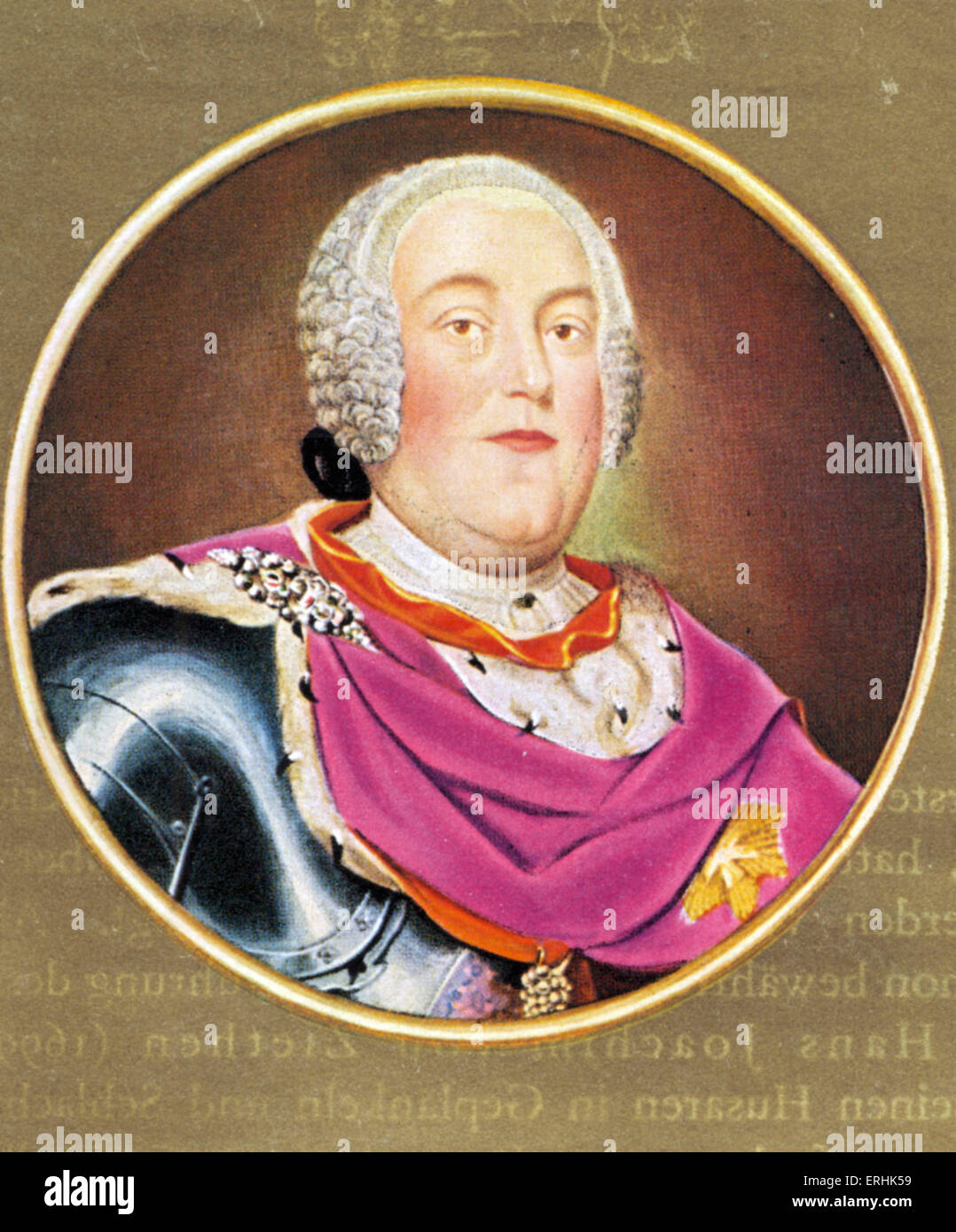 Augustus III the Saxon. Portrait of the Elector of Saxony and King of Poland. Also known as Frederick Augustus II. - Stock Image