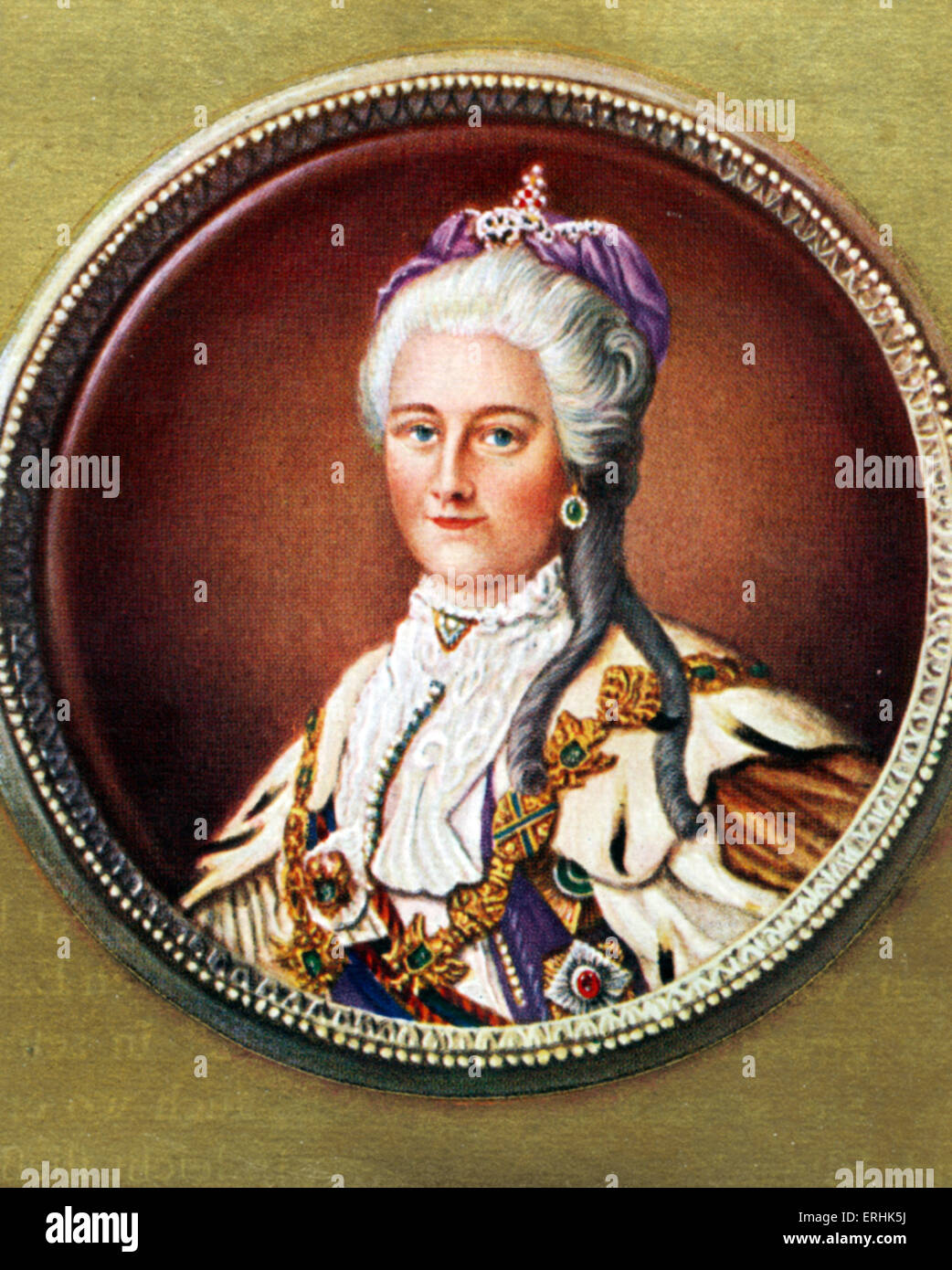 Catherine II. Portrait of the Russian Empress. 2 May 1729 - 17 November 1796 - Stock Image