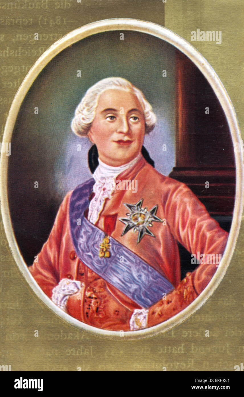 Louis XVI. Portrait of the King of France. 23 August 1754– 21January 1793 - Stock Image