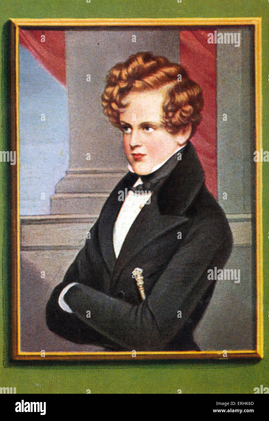 Napoleon II, Duke of Reichstadt. Portrait. Son of Napoleon Bonaparte, and briefly the second Emperor of France. Stock Photo