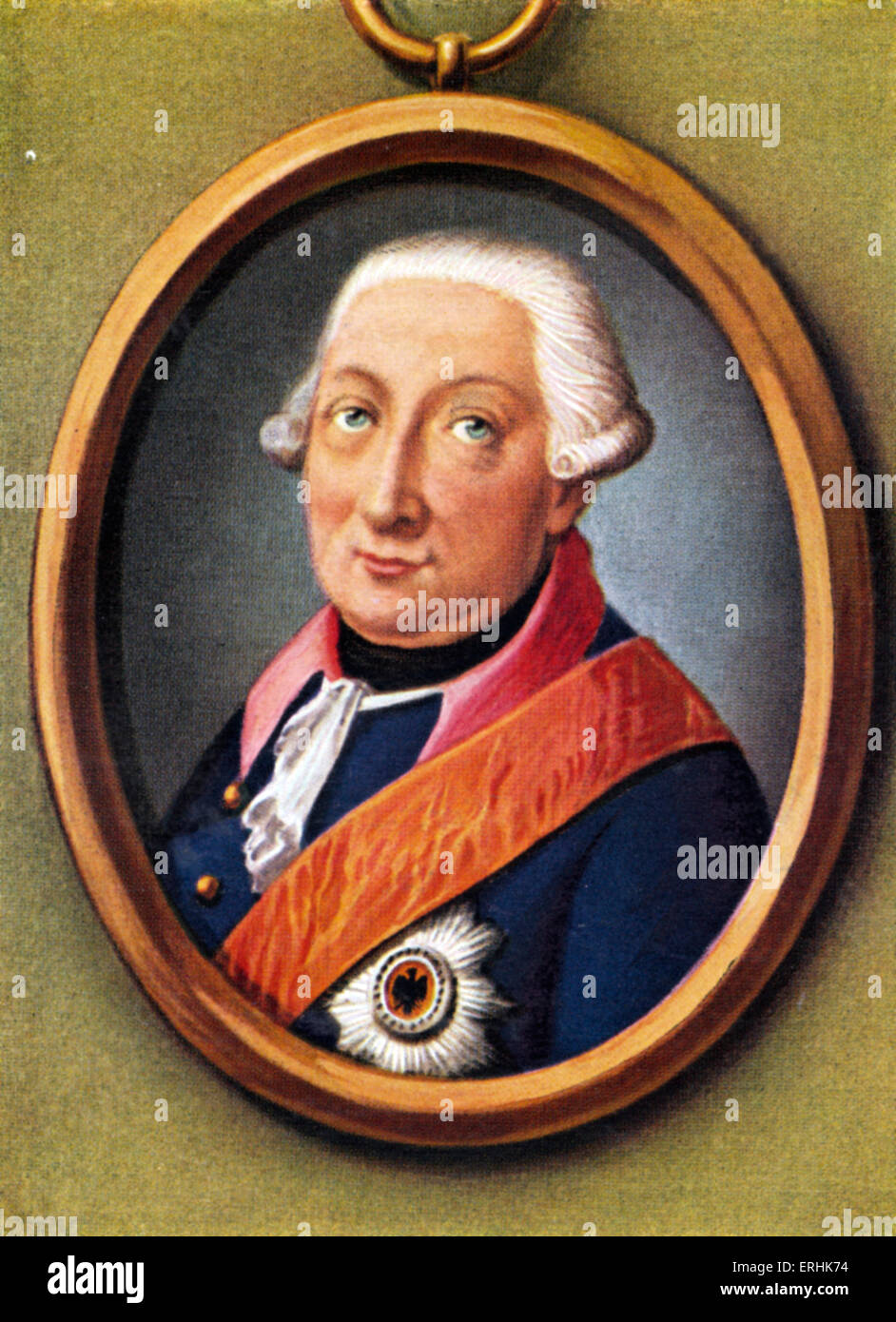 Bogislav Friedrich Emanuel count Tauentzien von Wittenberg. Portrait of the Prussian general. 15 September 1760 - Stock Image
