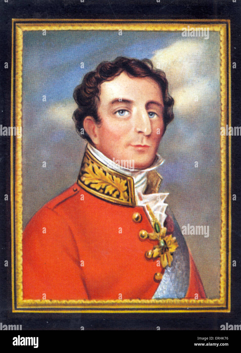 Arthur Wellesley, 1st Duke of Wellington. Portrait of the British soldier ans statesman. 1 May 1769 – 14 September - Stock Image