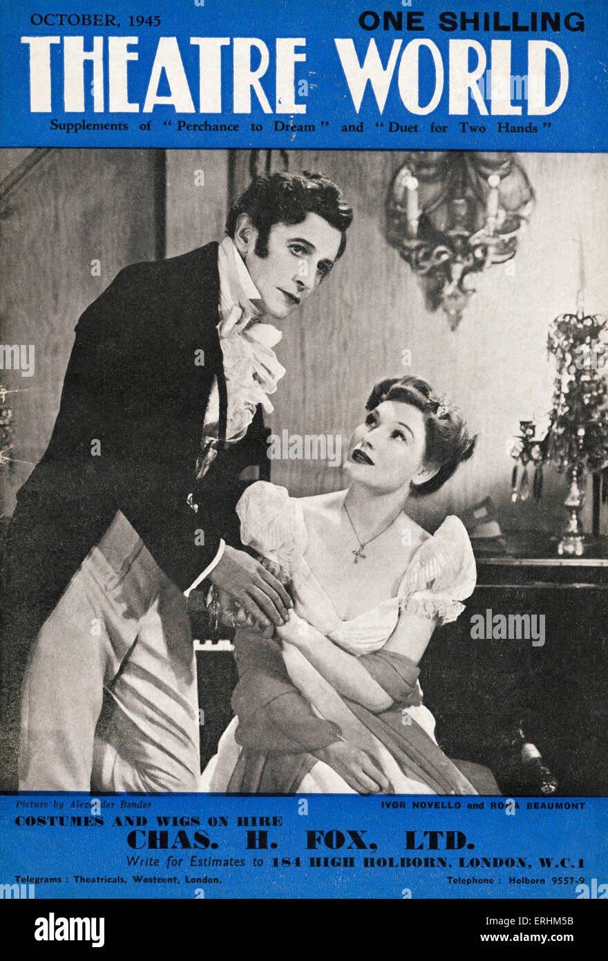 Ivor Novello as 'Sir Graham Rodney' & Roma Beaumont as 'Melanie' in the romantic musical 'Perchance - Stock Image