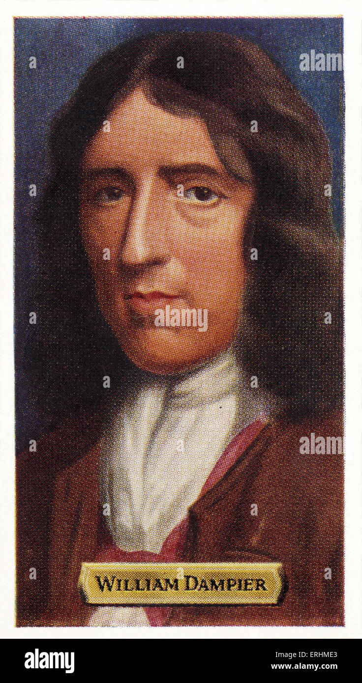 William Dampier - English sea captain and explorer. WD: 1652 - 1715. - Stock Image