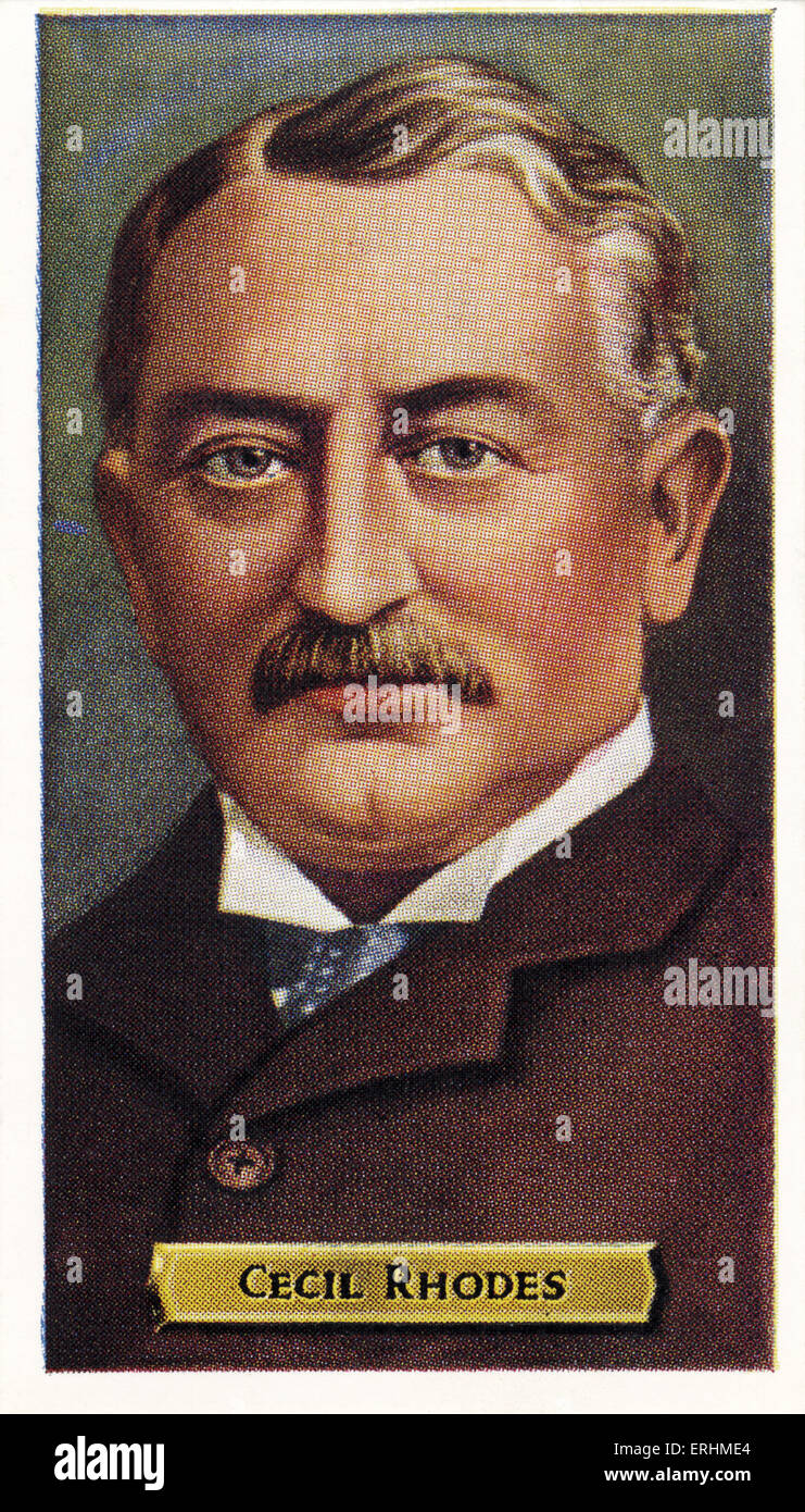 Cecil Rhodes - British-born South African businessman,   mining magnate, and a politician. Founder of the diamond - Stock Image