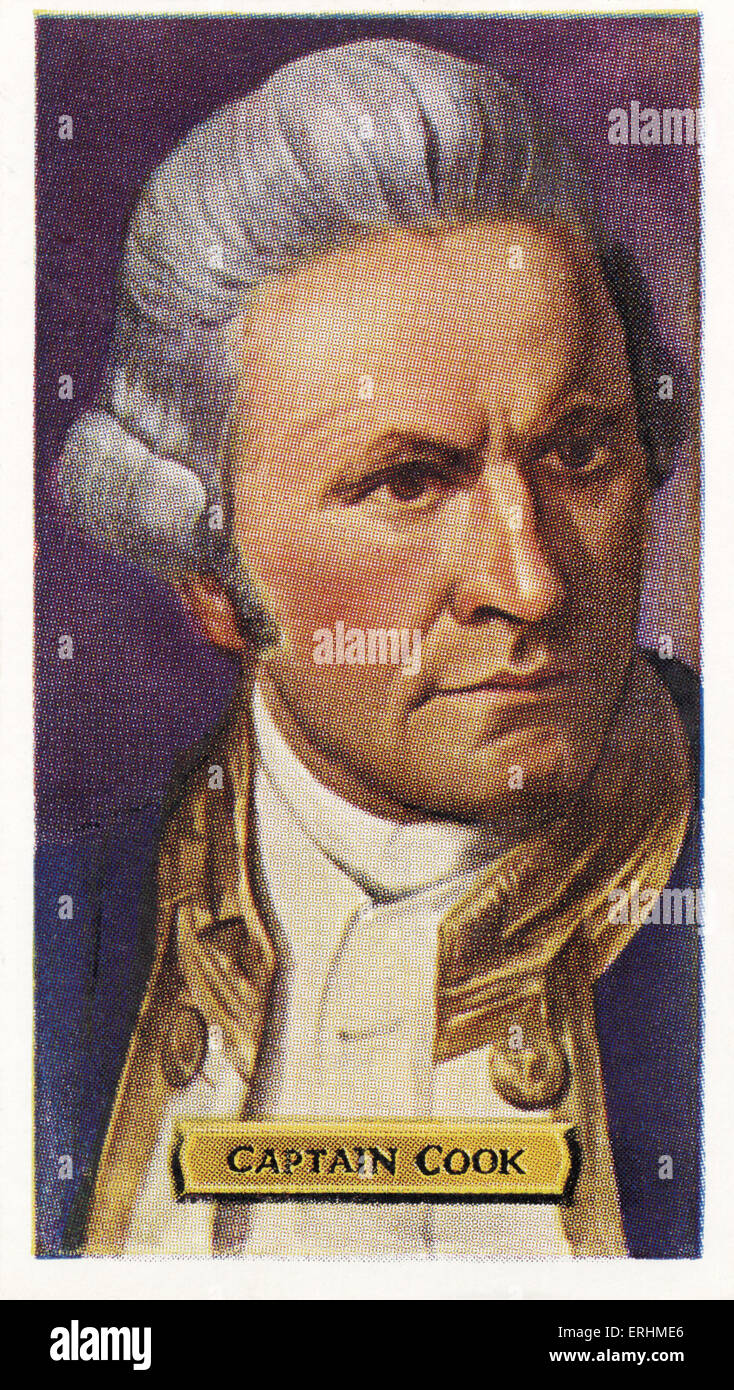 James Cook - English sea captain and explorer. JC: 27 October 1728 – 14 February 1779. - Stock Image